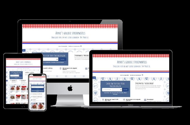 webshop ontwerp arno's stroopwafel