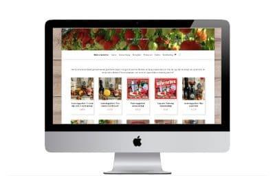 Vriendaardbeien wordpress webshop